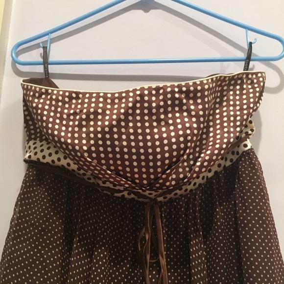 bebe Dresses & Skirts - Bebe Strapless Silk Mini